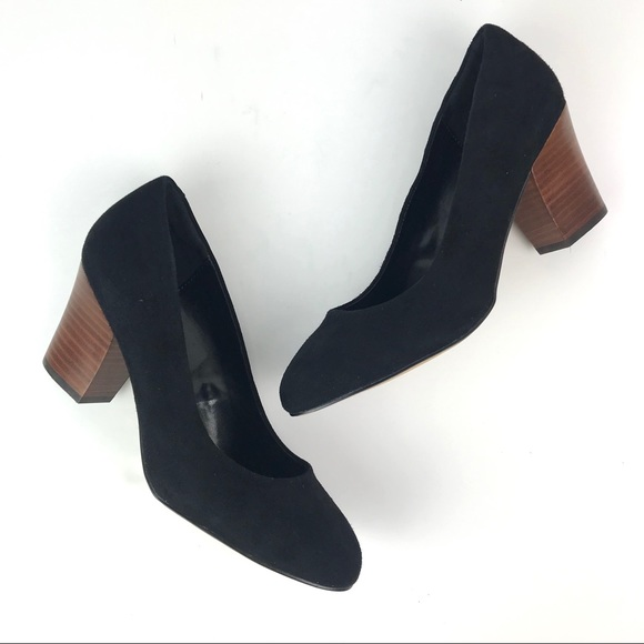 8fc8332cf0b9 Isola Shoes - Isola Black Suede Wood Heel Pumps